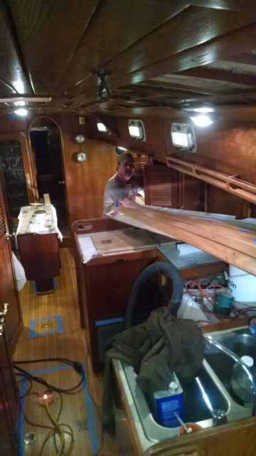 Interior of the boat must be cleaned with pressure air and vacumed