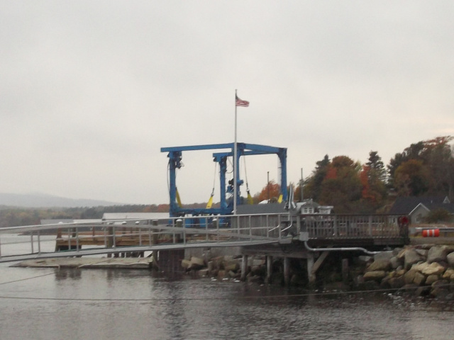 Winterport Boat Yard Travel LIft and Bay
