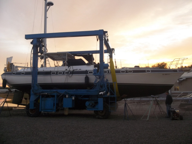 New 100 ton Travel Lift at Winterport Boat Yard