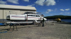 Catamaran hauls and stores at WInterport Boat Yard